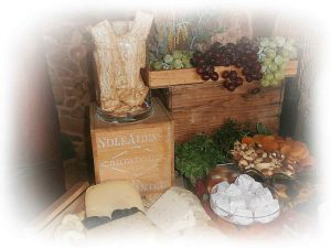 grazing table-crackers-sweets-fruit